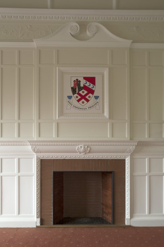 Level 3, north wing, south east diniing room, view of fireplace and overmantle