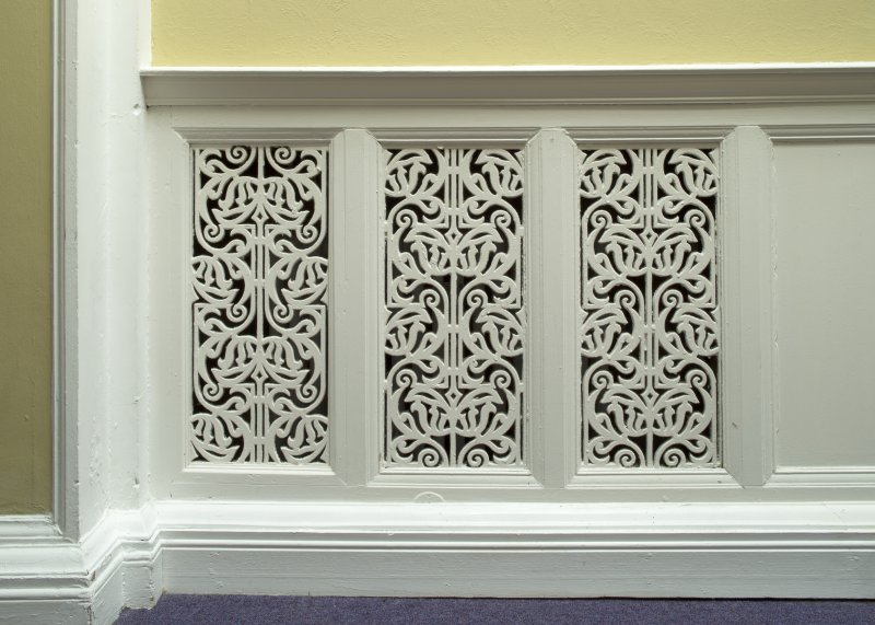 Level 3, central block, detail of radiator grill