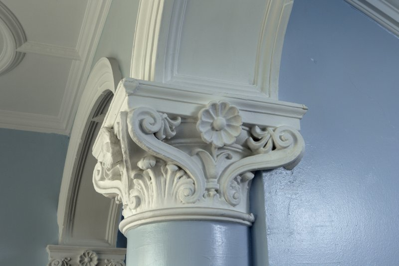 Level 3, green stair, detail of column capital