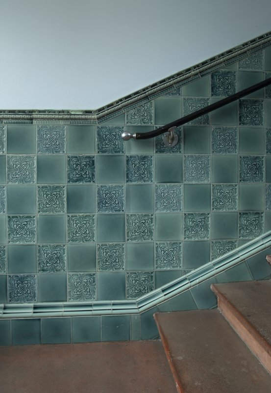 Level 3, green stair, detail of tilework