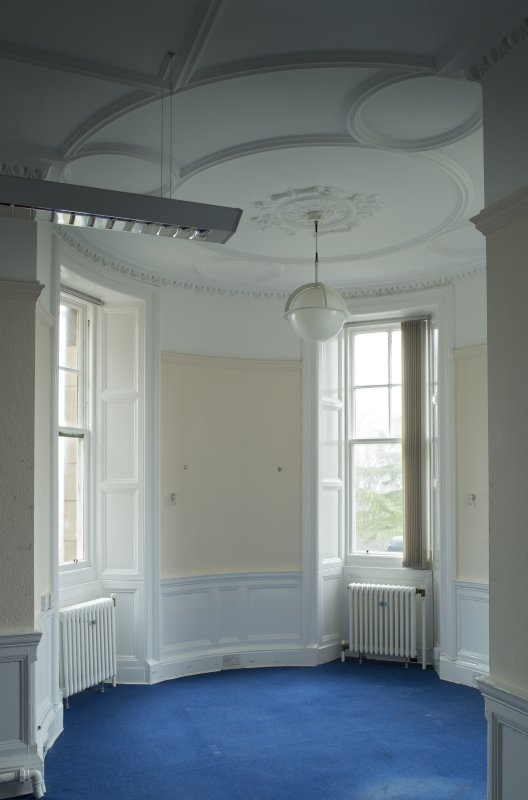 Level 3,east wing, north east corner room, view of turret in north east corner