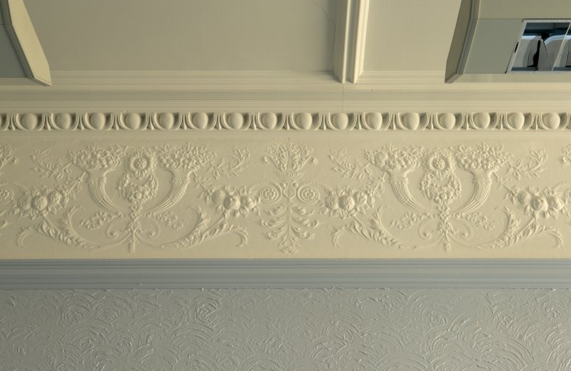 Level 3, east wing, south west corner room, detail of cornice