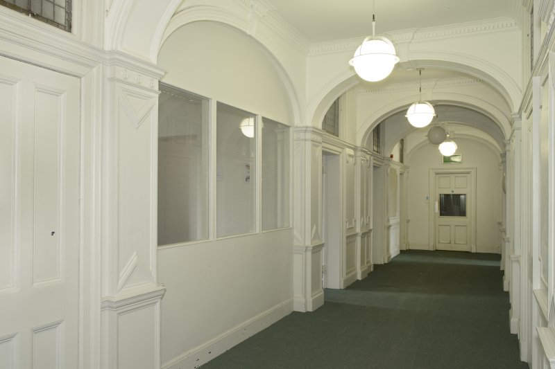 Level 2, east wing, corridor, view from south