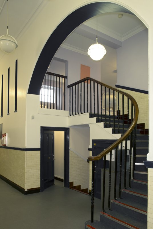 Level 2, former canteen, view of staircase from south west