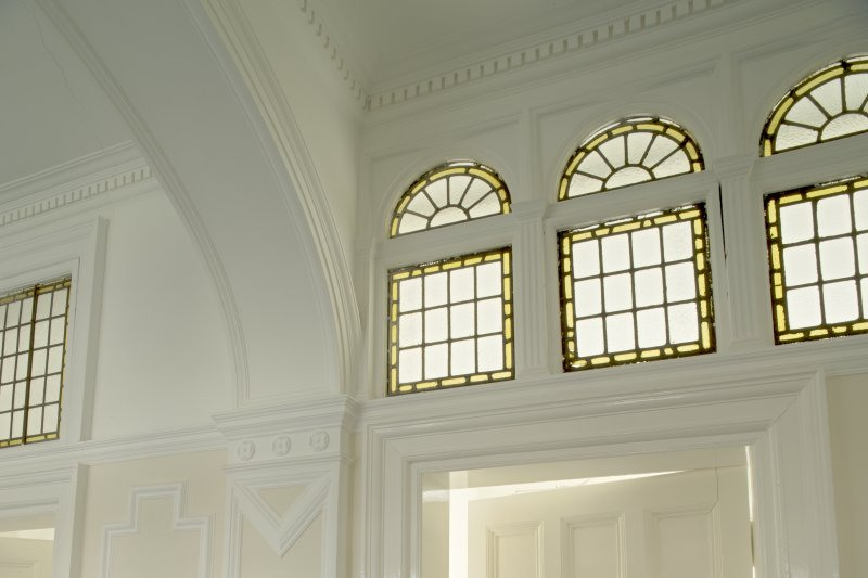 Level 4, west wing, corridor, detail of fanlights