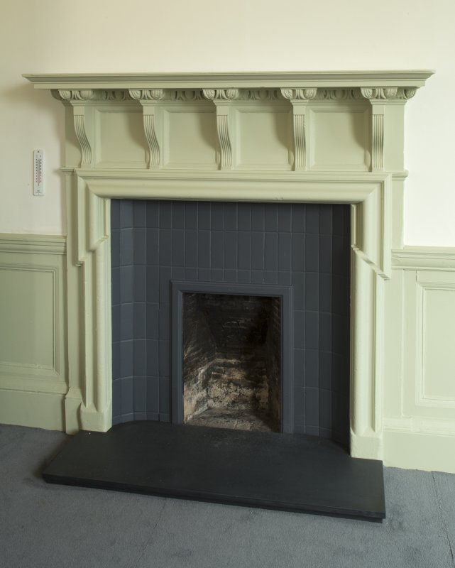 Level 6, Principal's suite, detail of fireplace