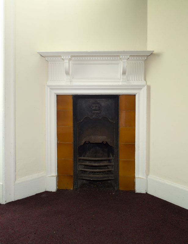 Level 9, tower, detail of fireplace
