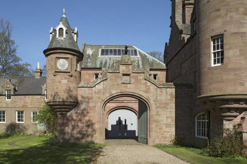 Entrance to north west courtyard, view from south west