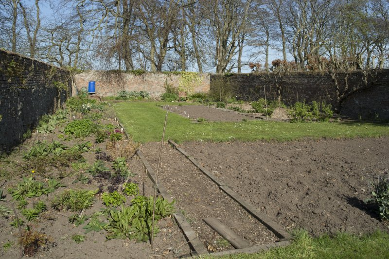 Walled vegetable garden, view from south