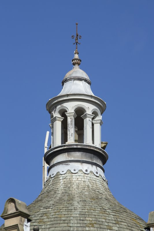 Detail of bellcote on south turret.