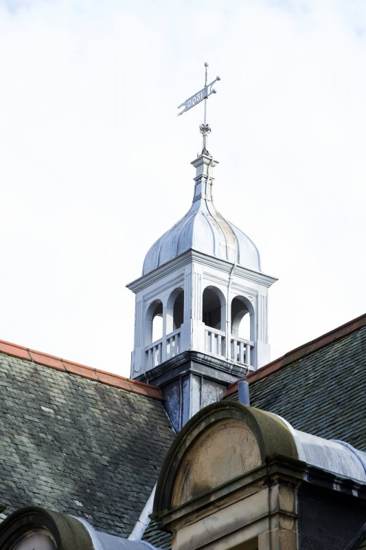 Detail of bellcote on the roof of the north and west wing.