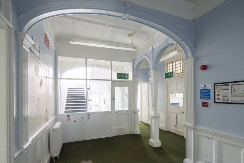 Queen's Craig. Ground Floor. Inner Hall. General view from North.