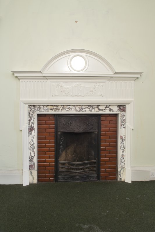 Queen's Craig. Ground Floor. Sitting Room. Detail of fireplace.