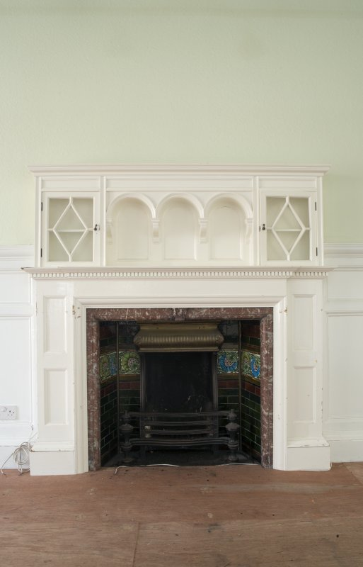 Queen's Craig. Ground Floor. Room 3. Detail of fireplace.