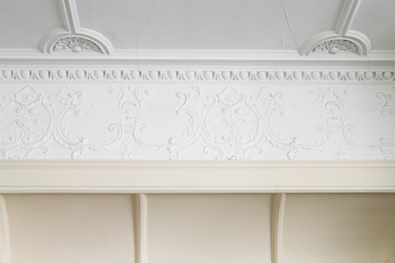Queen's Craig. Ground Floor. Room 4. Detail of frieze.