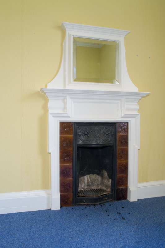 Queen's Craig. First Floor. Detail of fireplace.