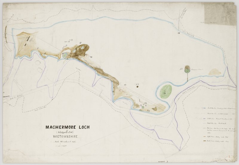 Plan of Whitefield Loch crannogs.