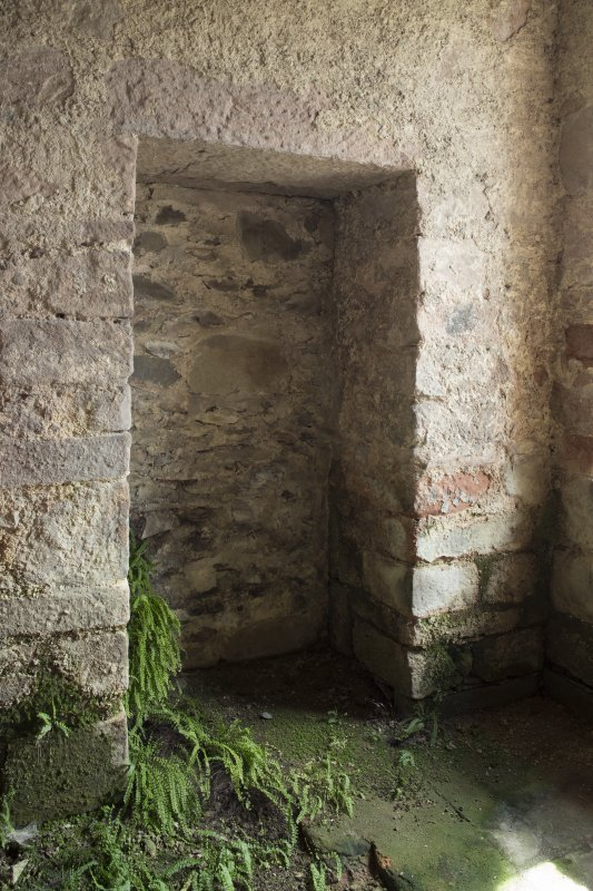 Durisdeer Parish Church. Session House. Ground floor. Room 2. View of blocked doorway from North West..