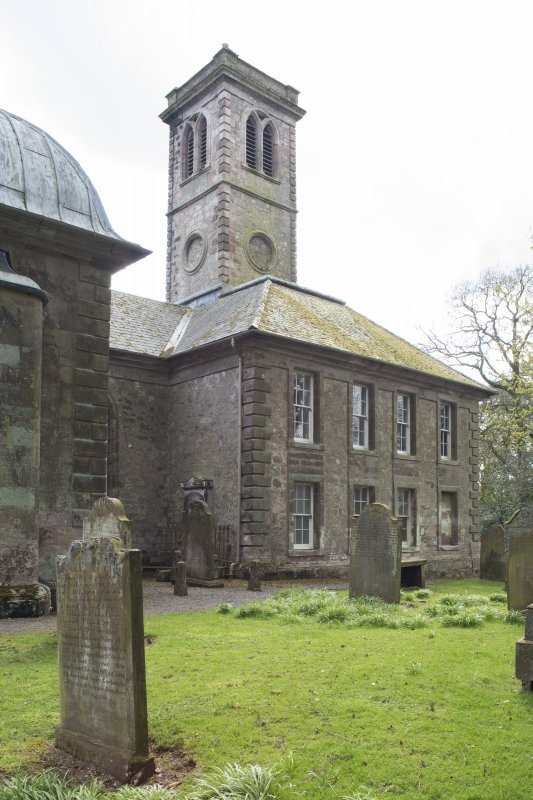 Durisdeer Parish Church. View of Session House from North West.