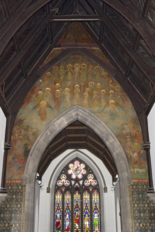 View of mural above chancel arch.