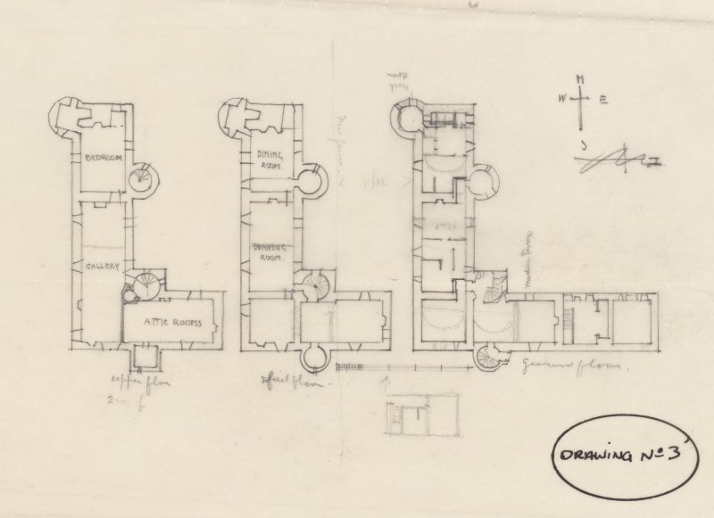 Plan of Auchans Castle