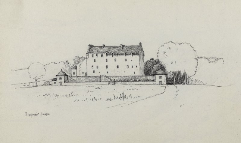Sketch showing Traquair House.