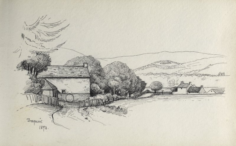 Sketch of cottages at Traquair.