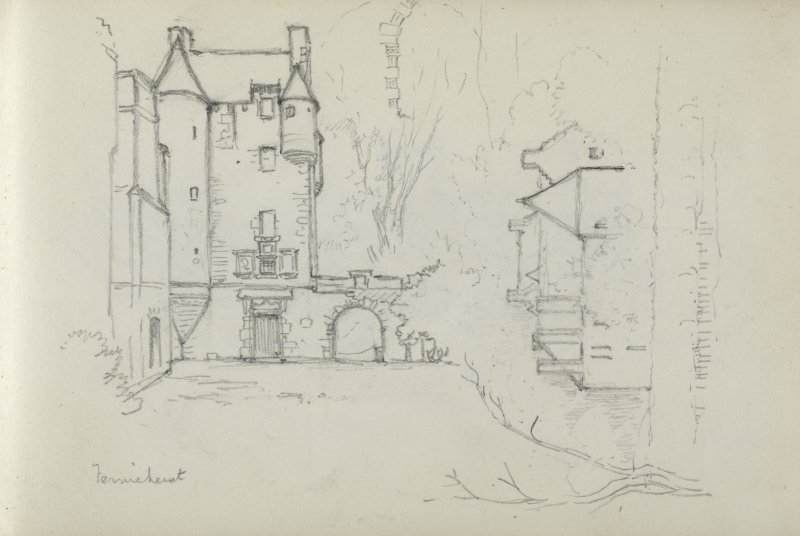 Sketch of Ferniehirst Castle.