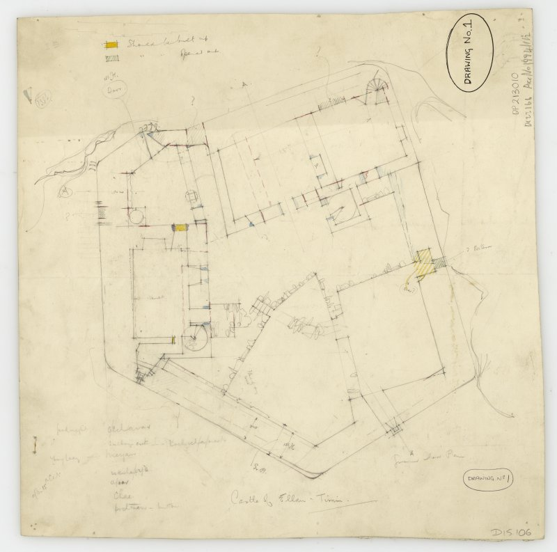 Draft sketch plan of Castle Tioram, Moidart