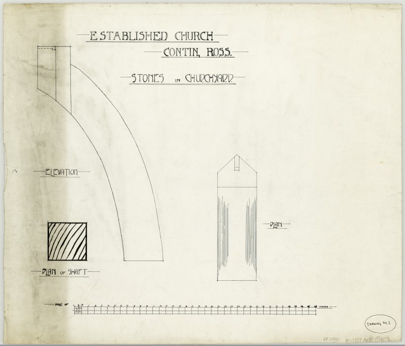 Drawings of architectural fragment of Established Church, Contin