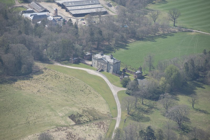Oblique aerial view of Auchinleck House, looking SW.