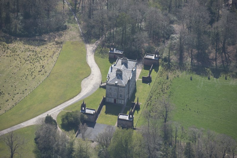 Oblique aerial view of Auchinleck House, looking SSE.