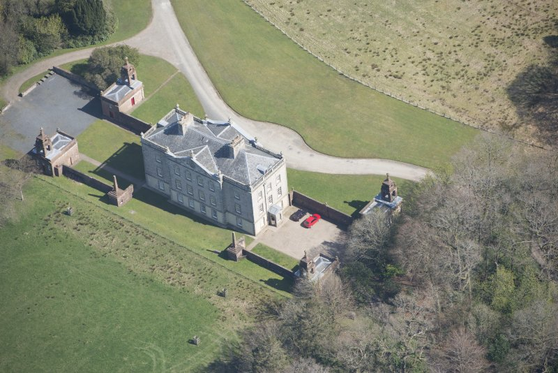 Oblique aerial view of Auchinleck House, looking NE.