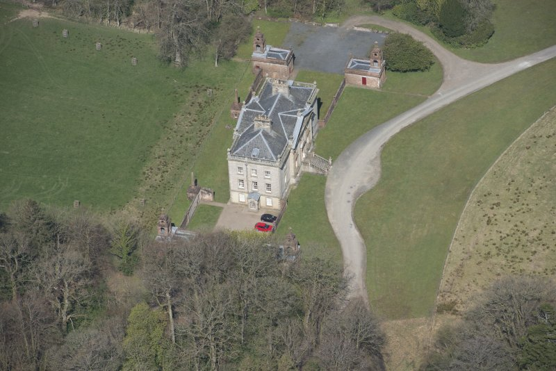 Oblique aerial view of Auchinleck House, looking NNW.