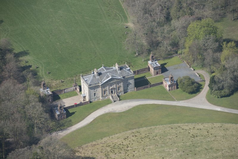 Oblique aerial view of Auchinleck House, looking WNW.
