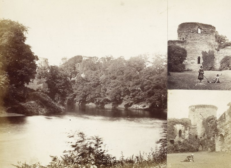 Three views of Bothwell Castle.