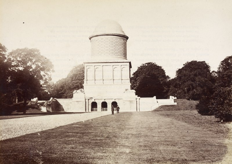 View of Hamilton Mausoleum.