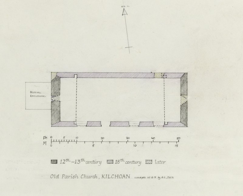 Survey drawing; phased ground floor plan