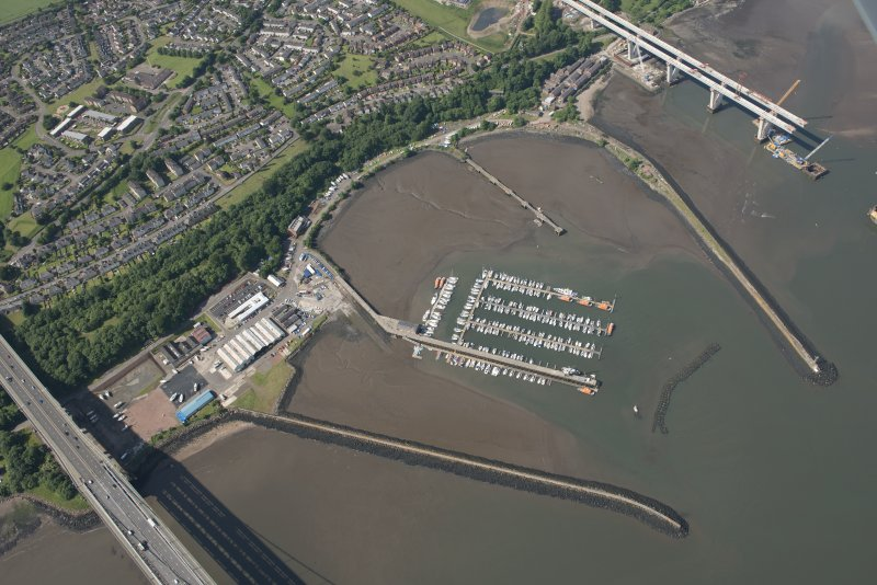 Oblique aerial view of Port Edgar, looking WSW.