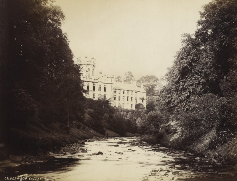 View of Calderwood Castle from the river