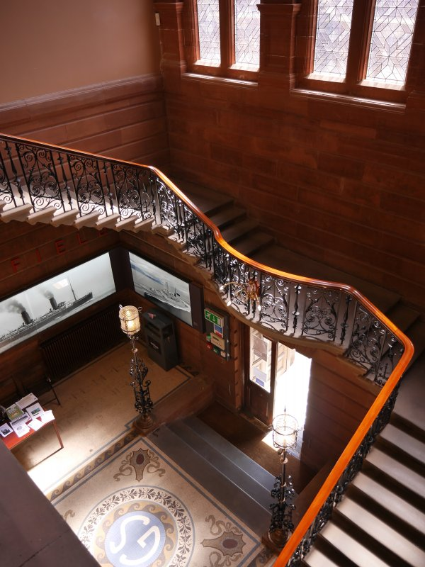 Main staircase in Fairfield.