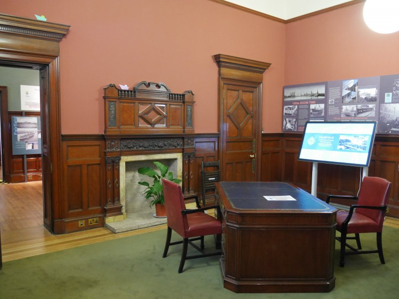 Interior view of director's office, Fairfield Heritage.