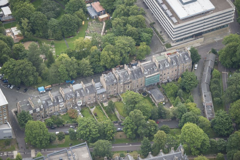 Oblique aerial view of George Square, looking E.