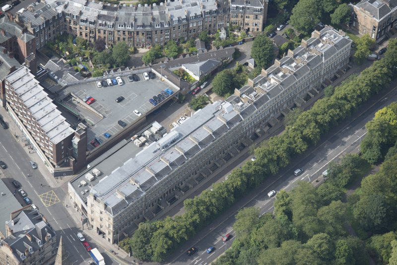 Oblique aerial view of Grosvenor Terrace and Grosvenor Hotel, looking WSW.