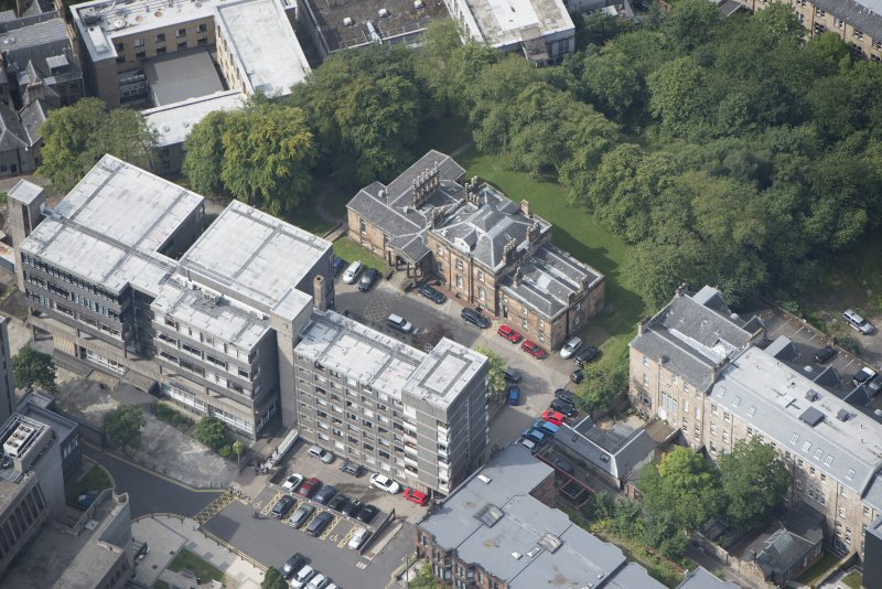 Oblique aerial view of Lilybank House, looking WSW.