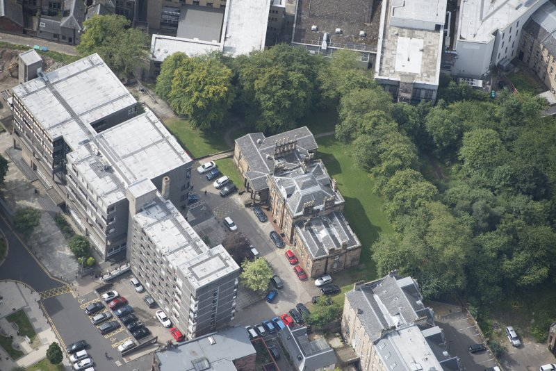 Oblique aerial view of Lilybank House, looking SW.