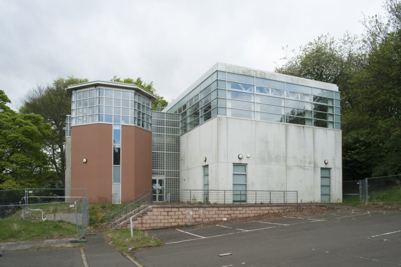 Exterior. General view of the Learning Resource Centre, taken from the north east.