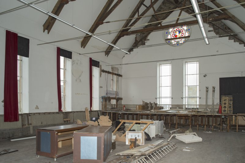 1st floor, main hall, view from south west
