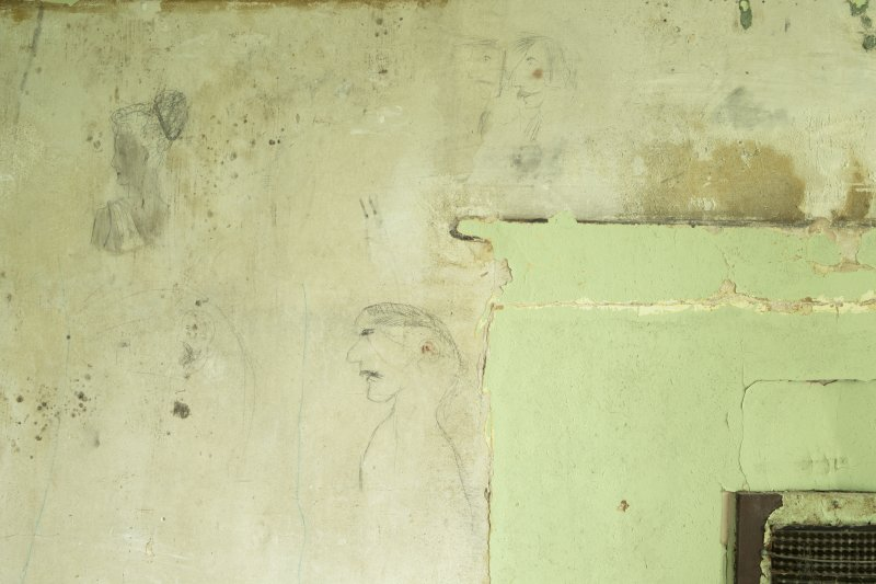 2nd floor, detail of graffiti