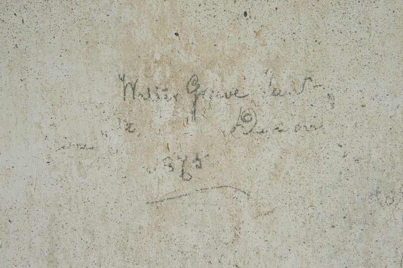 Ground floor, rear flat, detail of graffiti